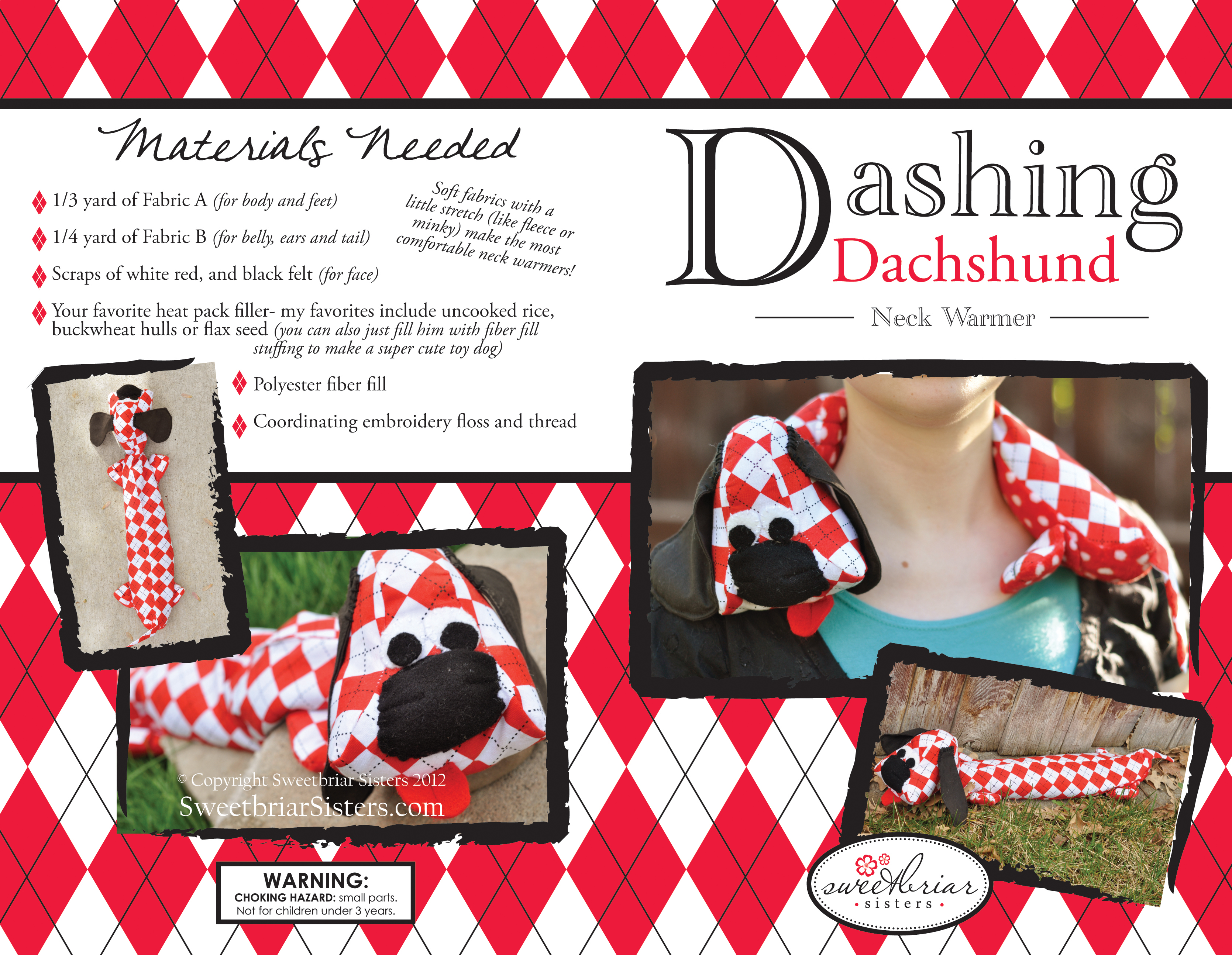 Dashing Dachshund Neckwarmer Sweetbriar Sisters