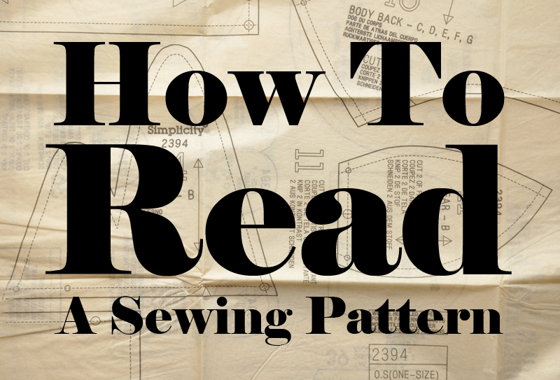 How To Read a Sewing Pattern copy