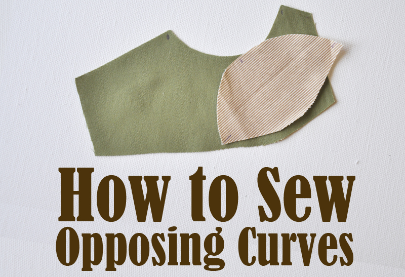 How to sew opposing curves