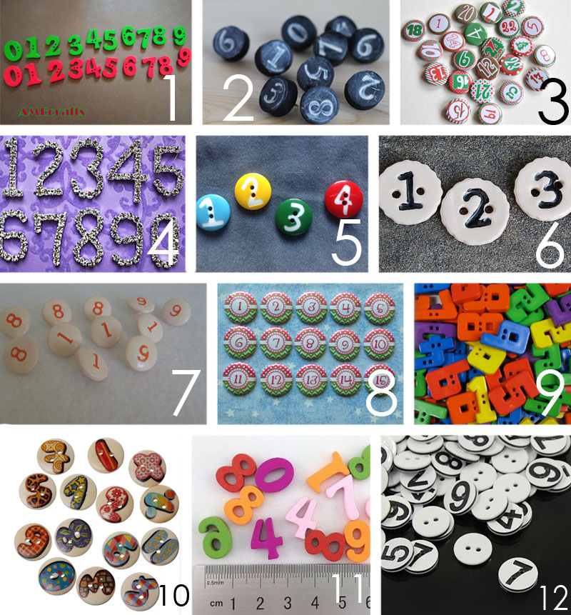 number buttons copy