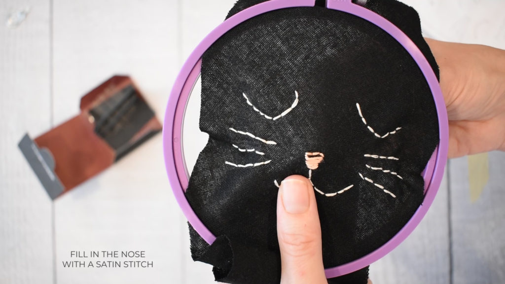embroider cat face