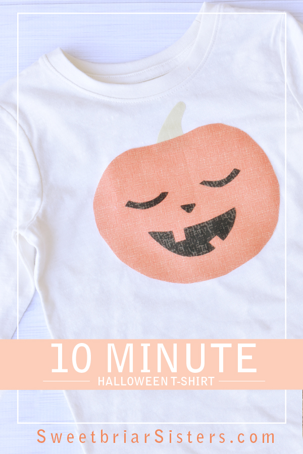 no sew pumpkin shirt