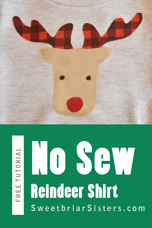 rudolf tshirt diy tutorial