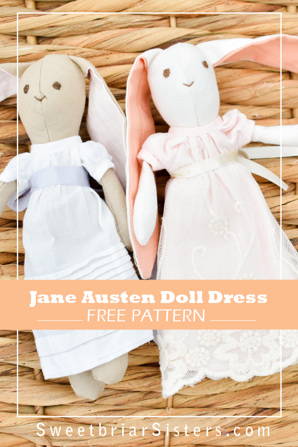 free sewing pattern for mini jane austen gown