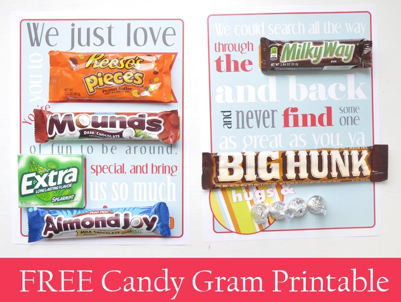 Free Candy Gram Printable Sweetbriar Sisters