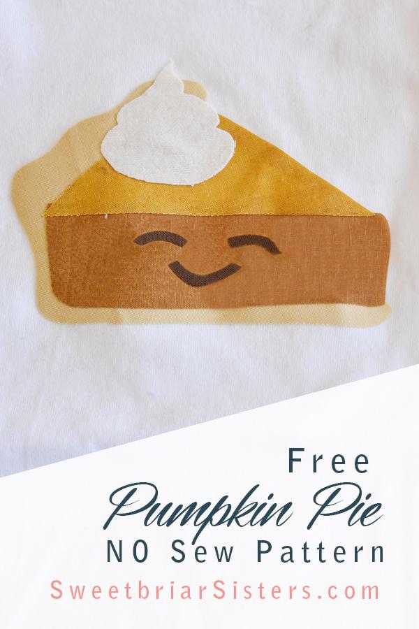 cute pumpkin pie iron on transfer