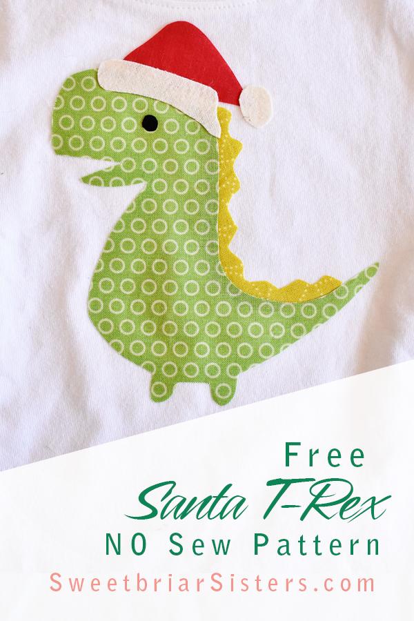 santa t-rex shirt